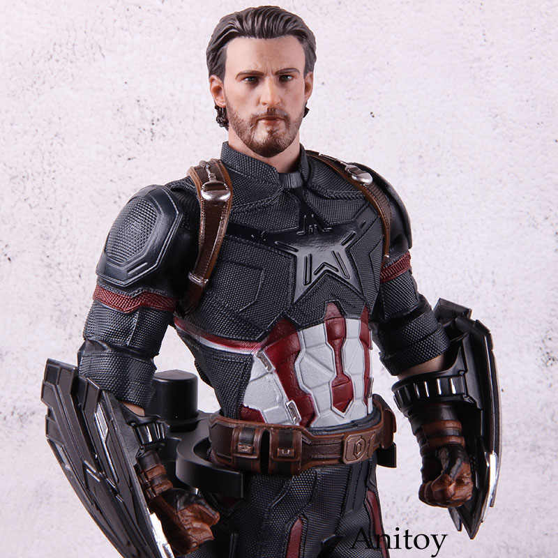 1/6th Skala Gila Mainan Sosok Patung Avengers Endgame Captain America Figure Marvel Action Figure Collectible Model Mainan