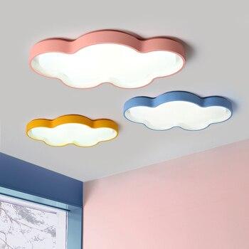 Современная Потолочная люстра для спальни, детская Люстра для девочек с синими, белыми, оранжевыми, розовыми лампами, люстра
