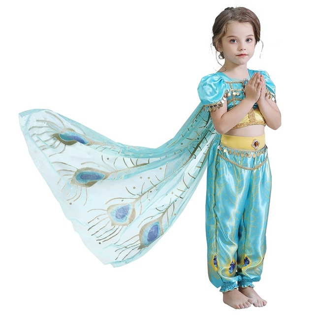 4-10T Fancy Princess Dress Baby Girl Clothes Kids Halloween Party Cosplay Costume Children Elsa Anna Dress vestidos infantil 5