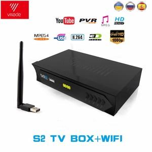 Image 5 - Vmade Europeo C line HD DVB S2 M5 lnb ricevitore satellitare 1080P pieno Spagnolo Portoghese Arabo TV box con USB Wifi reception