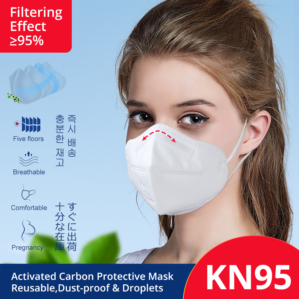 KN95 Mouth Masks PM 2.5 Breathable Dust Face Masks Antiviral Coronavirus Activated Carbon Protective Anti Radiation Gas Masks