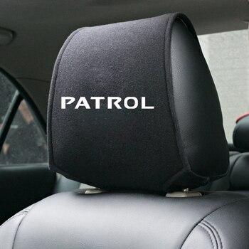1PCS Heißer auto kopfstütze abdeckung fit für Nissan Patrol Y60 Y61 Y62 ALMERA Teana Skyline Juke Qashqai Murano X  trail Auto Styling| |   -