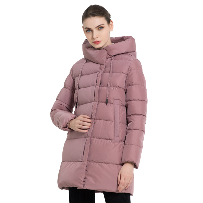 ICEbear 2019 New Winter Women's Hooded Jacket Stylish Female Cotton Jacket Winter Warm Coats Brand Woman Clothing GWD18216I icebear 2018 new autumn women cotton padded high quality thermal short paragraph slim women s jacket fall woman jacket gwc18126d