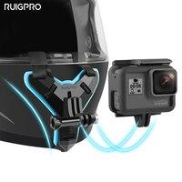 Мотоциклетный шлем подбородок подставка держатель для GoPro Hero 8 7 6 5 4 3 Xiaomi Yi экшн Спортивная камера полное лицо держатель аксессуар