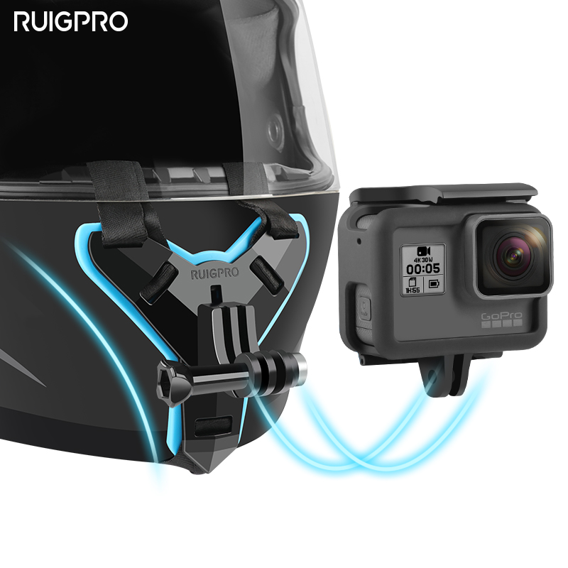 Motorcycle Helmet Chin Stand Mount Holder For GoPro Hero 8 7 6 5 4 3 Xiaomi Yi Action Sports Camera Full Face Holder Accessory