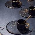 Из европейской керамики кофейная чашка набор круглая кружка английский послеобеденный чай набор практичная чашка и блюдо с ложкой десертн...
