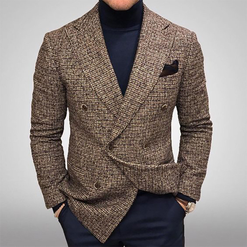 wedding : Mens Fashion Double Breasted Mens Suit Slim Fit Blazer Tuxedos For Wedding Groommen   Only One Jacket
