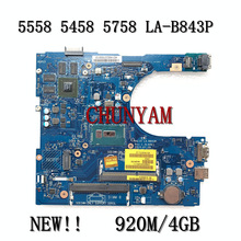 Laptop Motherboard LA-B843P 5558 Mainboard Dell Inspiron FOR 5458 5758 La-b843p/Cn-0149m4/149m4/Mainboard