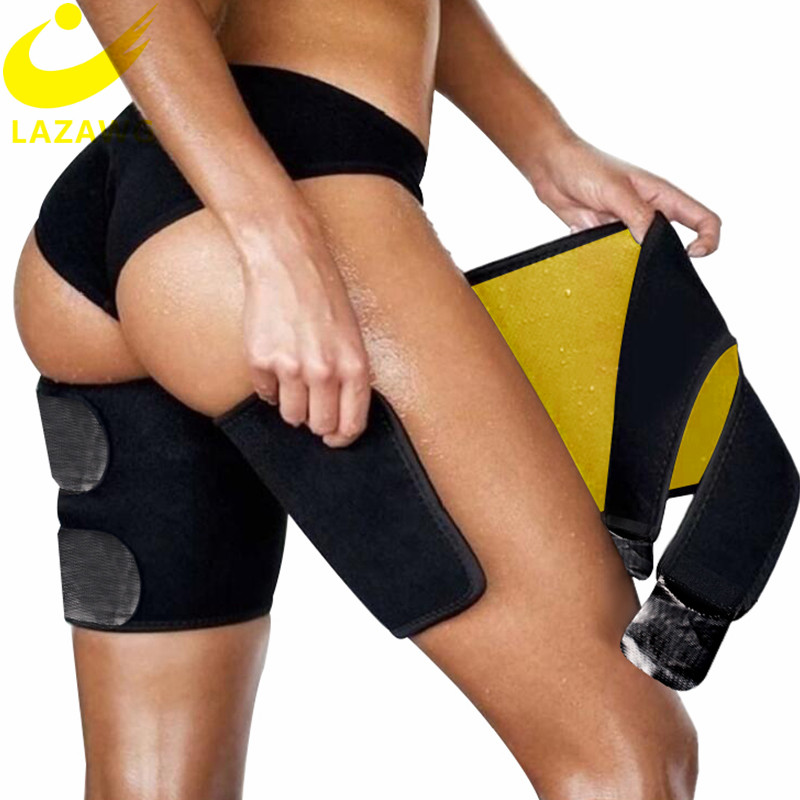 LAZAWG Leg Belt Sweat Thigh Trimmer Sweat Band Leg Slimmer Weight Loss Neoprene Gym Workout Corset Thigh Slimmer Tone Legs Strap
