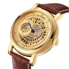 Gold Automatic Mechanical Watch Men Skeleton Watche