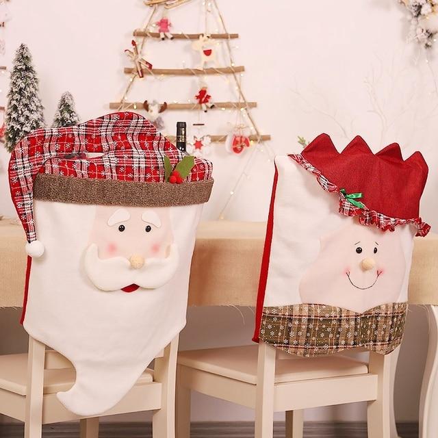 Фото 1 шт рождественский санта клаус кухня обеденный стол и стул цена