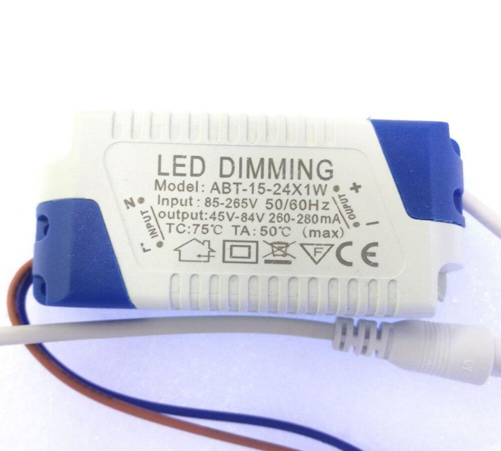 5-24x1W controlador Led regulable 300mA 3W 4W 5W 7W 9W 10W 15W 18W 20W 21W 24W fuente de alimentación AC 110V 220V para luces de techo LED bombilla 1 Uds linterna convoy linterna Lanterna conductor nuevo Firmware 7135x3/7135x4/7135x6/7135 8x17mm de accesorios de iluminación