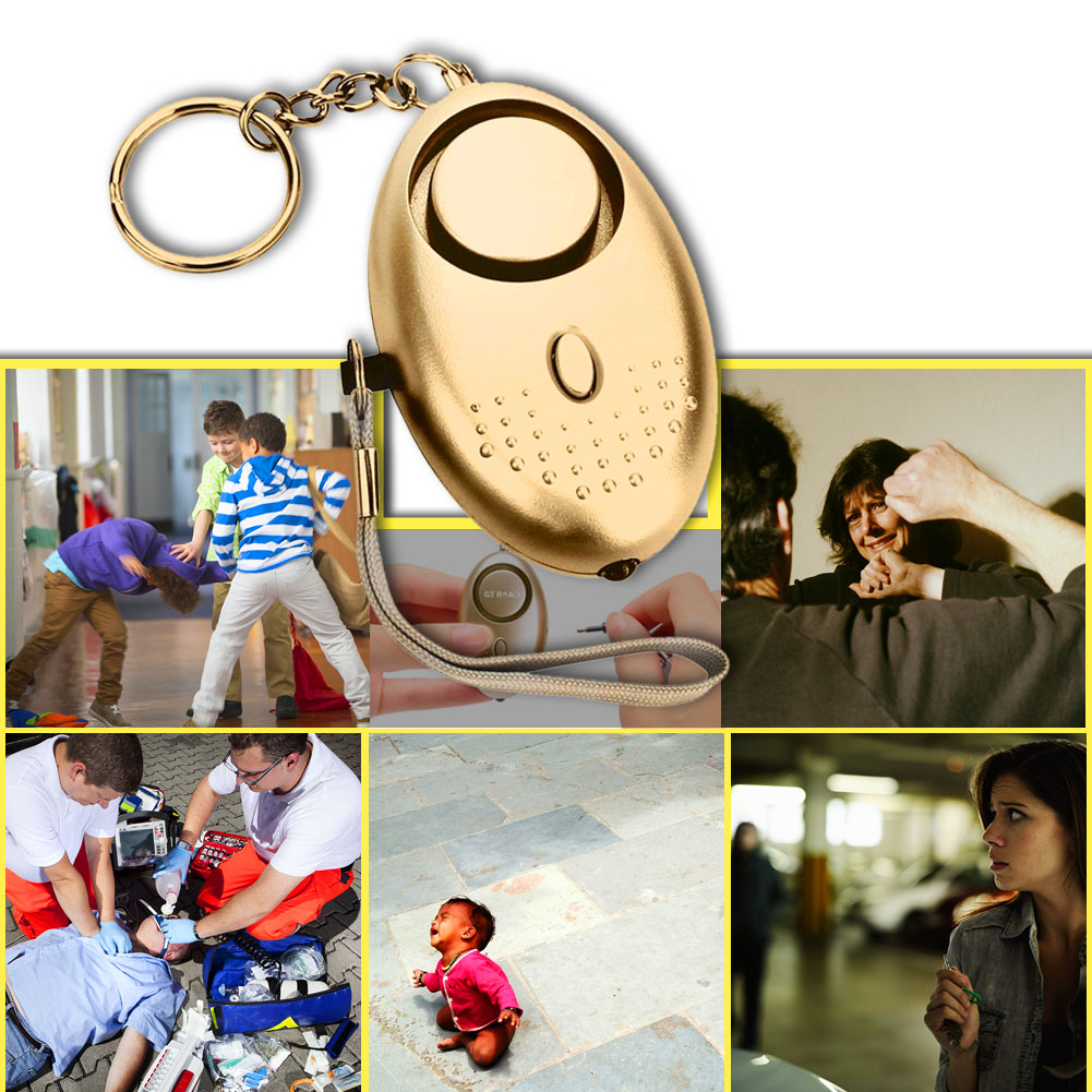 Personal Alarm With LED Light 120DB  Anti Lost Wolf Self-Defense Safety Attack Emergency Alarms For Women Kids Elderly GV99