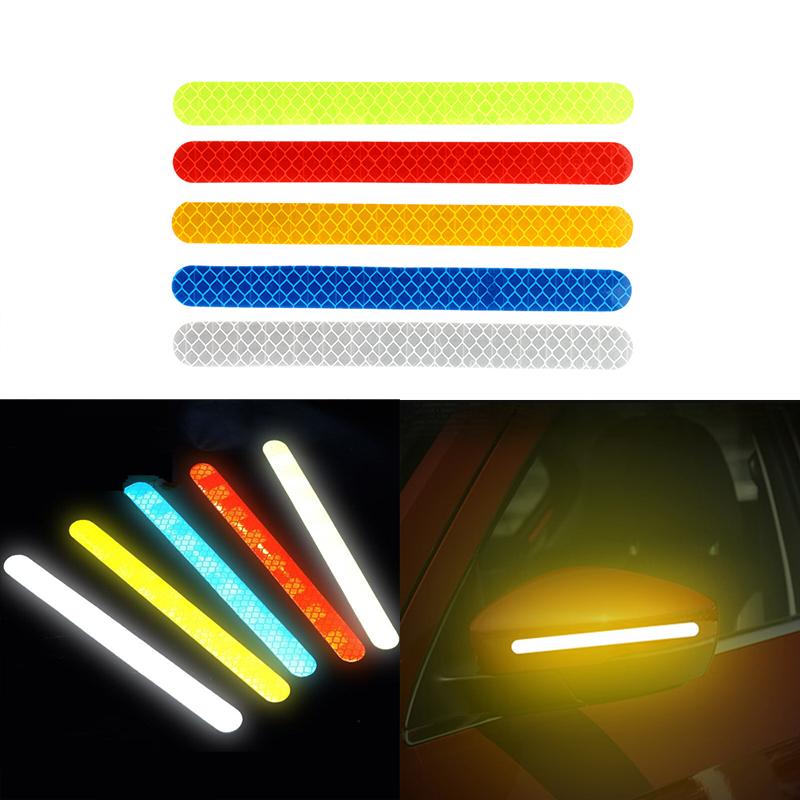 Reflective Warning Strip Tape Car Bumper Reflector 2X//Set Stickers Decals Safety