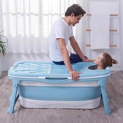 Klapp Erwachsenen Bad Barrel Verlängern 1,36 m Erwachsene Bad Kinder Schwimmen Kunststoff Badewanne Verdickung Badewanne mit Badewanne Abdeckung