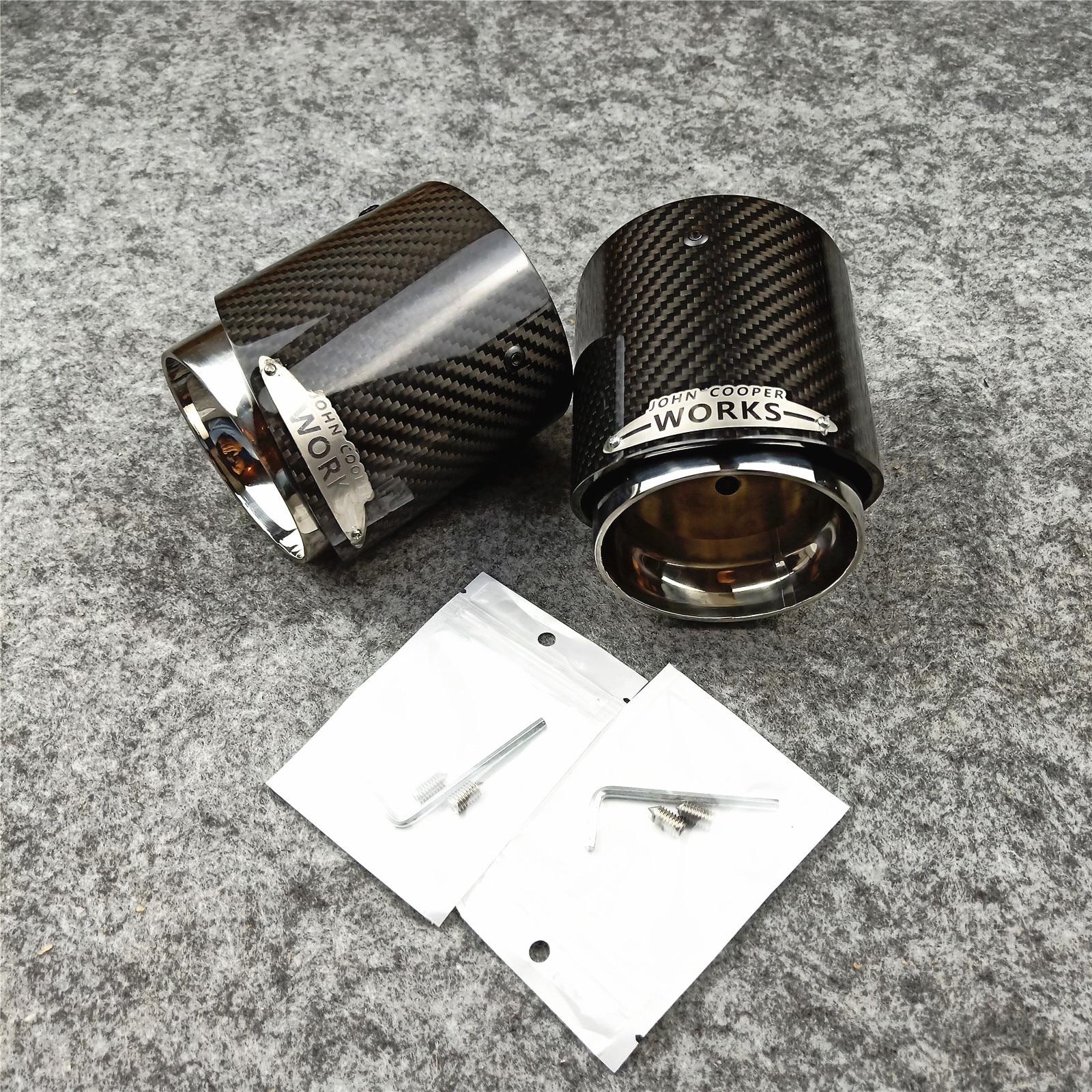 Image 3 - 1 PCS 3K Carbon Top Quality Exhaust Muffler Tips for MINI Cooper S  R55 R56 R57 R58 R59 R60 R61 F54 F56 F57 F60Exhaust
