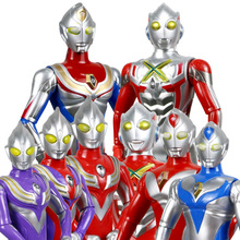Ultraman Battle Kaiju LED Light Voice Music Model Toys Figures Joints Movable Ginga Dyna Tiga 26cm Gifts for Children Boxed