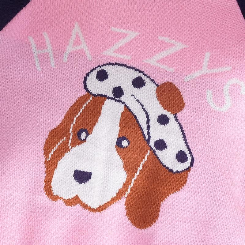 Cartoon Puppy Children Pullover Sweater 2019 Autumn And Winter New Style Girls Crew Neck Cute Long-sleeve Knitwear