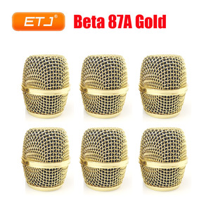 Image 1 - 6pcs Beta87A Grille Mesh Ball For Shure Ball Gold Head Replacement Beta 87A Accessories Wholesales