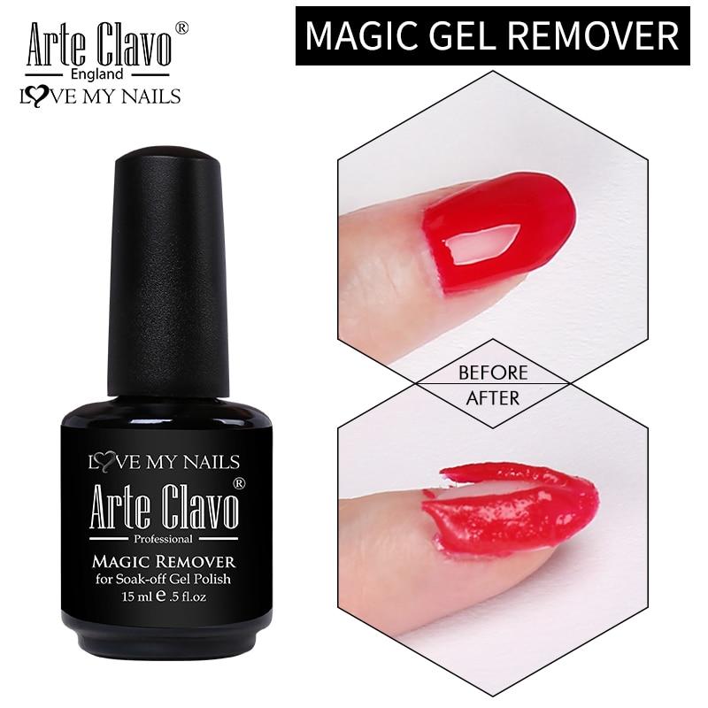 Arte Clavo 15ml Magic Gel Remover Degreaser Cleaner Liquid Soak Off UV Gel Nail Polish Remover Nail Art Lacquer Manicure Tool