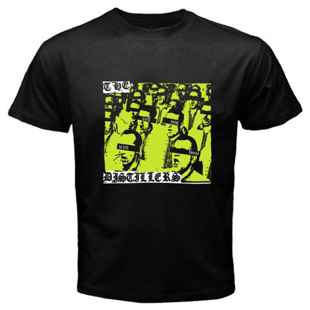 THE DISTILLERS Sing Sing Death House Punk Rock Men's Black T Shirt Size S to 3XL
