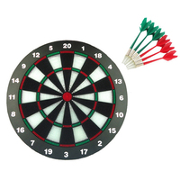 Safe Dart Dartboard Set single sided dart game 6 pieces darts outdoor toys 18 inch for children adults