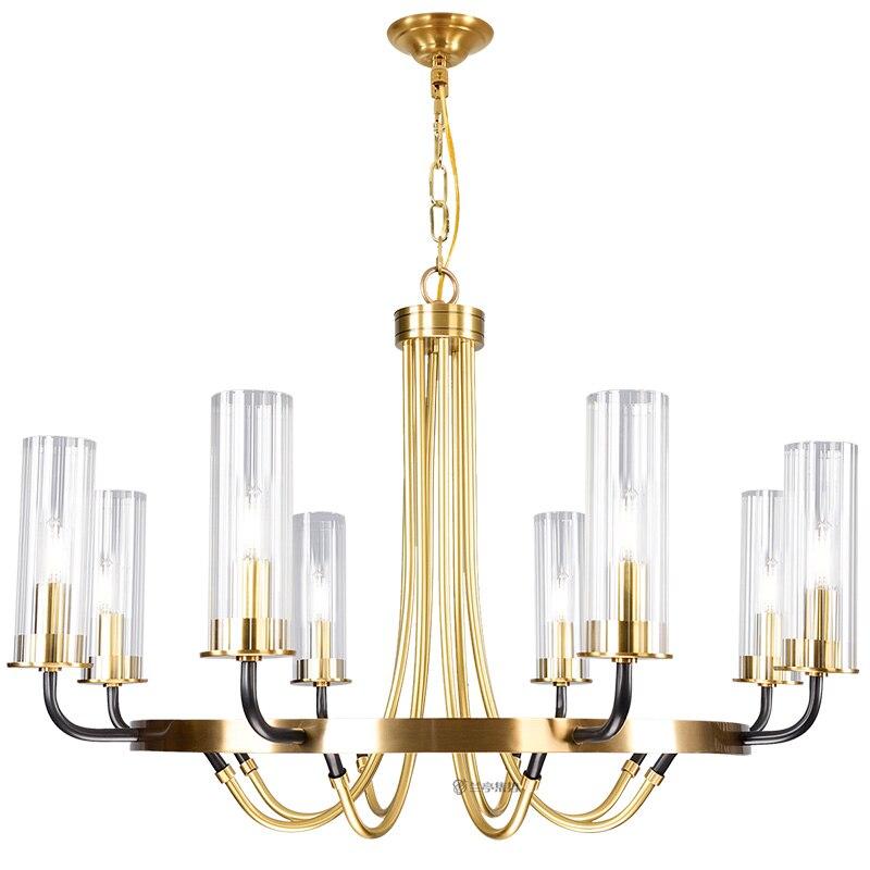 Image 5 - Postmodern luxury LED Iron art chandelier Nordic glass living room lighting bedroom fixture dining room villa hanging lightsChandeliers   -
