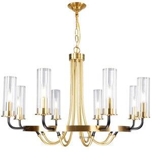 Image 5 - Postmodern luxury LED Iron art chandelier Nordic glass living room lighting bedroom fixture dining room villa hanging lights