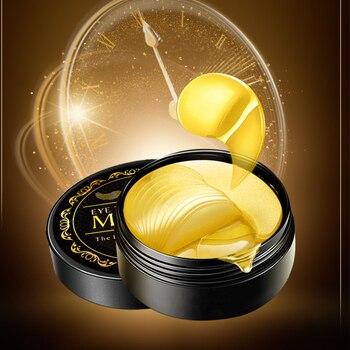 60pcs Collagen Eye Mask Under Eye Patches Gel 24K Gold Hydrogel Crystal Sleep Mask Sheet Pads Dark Circles Ageless Skin Care