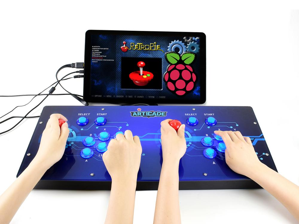 Waveshare Arcade-C-2P, Arcade Console Powered By Raspberry Pi, 2 Players