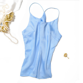 New Women Summer Silk Camisole Women basic 100% Pure Silk Blouse Casual Solid Pure Silk Tank Tops White Black Lady Top