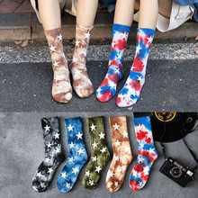 Зимние носки для влюбленных стильные волос с галстуком краской
