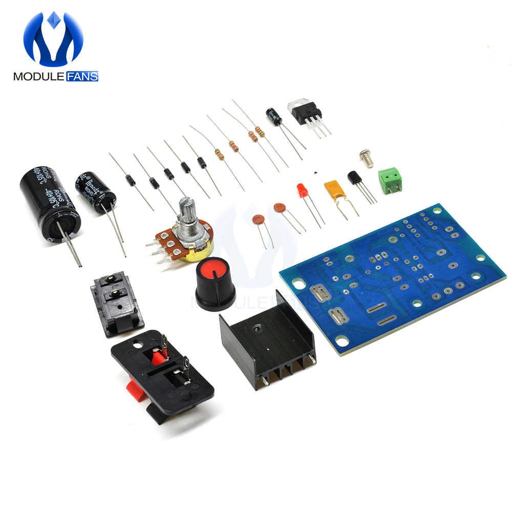 LM317 DIYชุดStep Downโมดูลปรับแรงดันไฟฟ้าสวิทช์ฟิวส์Electrolytic Capacitor Board