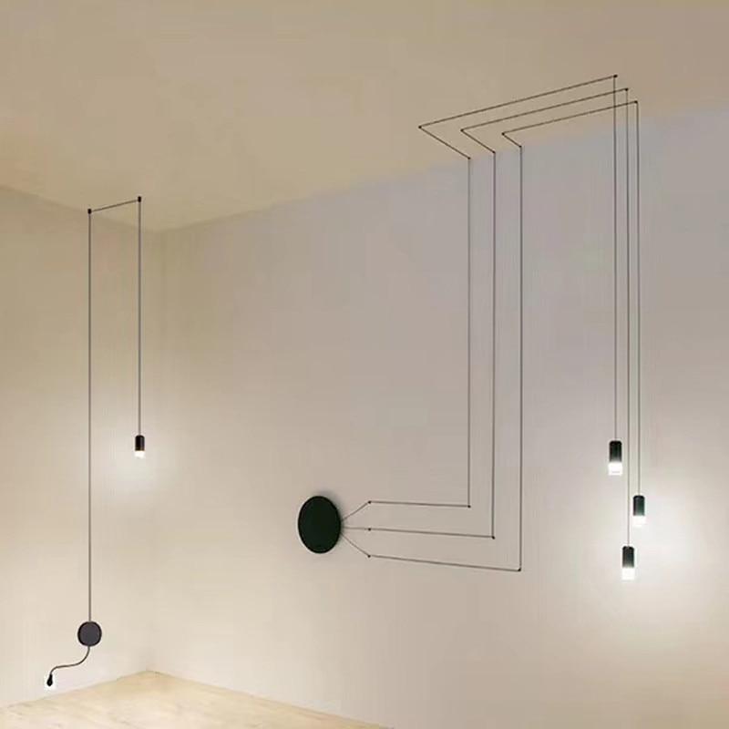Светодиодная люстра Wireflow vibia Line, светильник, черная подвесная Подвесная лампа, люстра, скандинавский потолочный светильник, настенный светильник, домашний декор