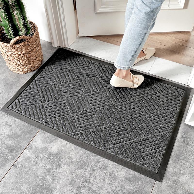 60*90cm PP Rubber Anti-Slip Mat And Wear-resistant Door Mat For Home Door Mat Carpet Hotel Outdoor Indoor Waterproof Environment