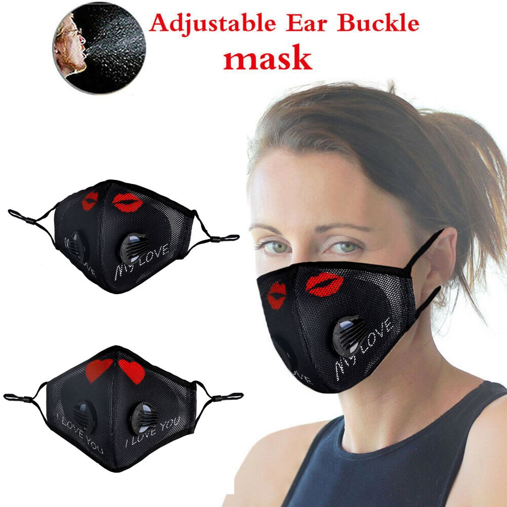 Unisex Sports Cycling Mouth Face Mask PM2.5 Anti-pollution Activated Carbon Protection Face Shield Washable Mask Cover Men Women