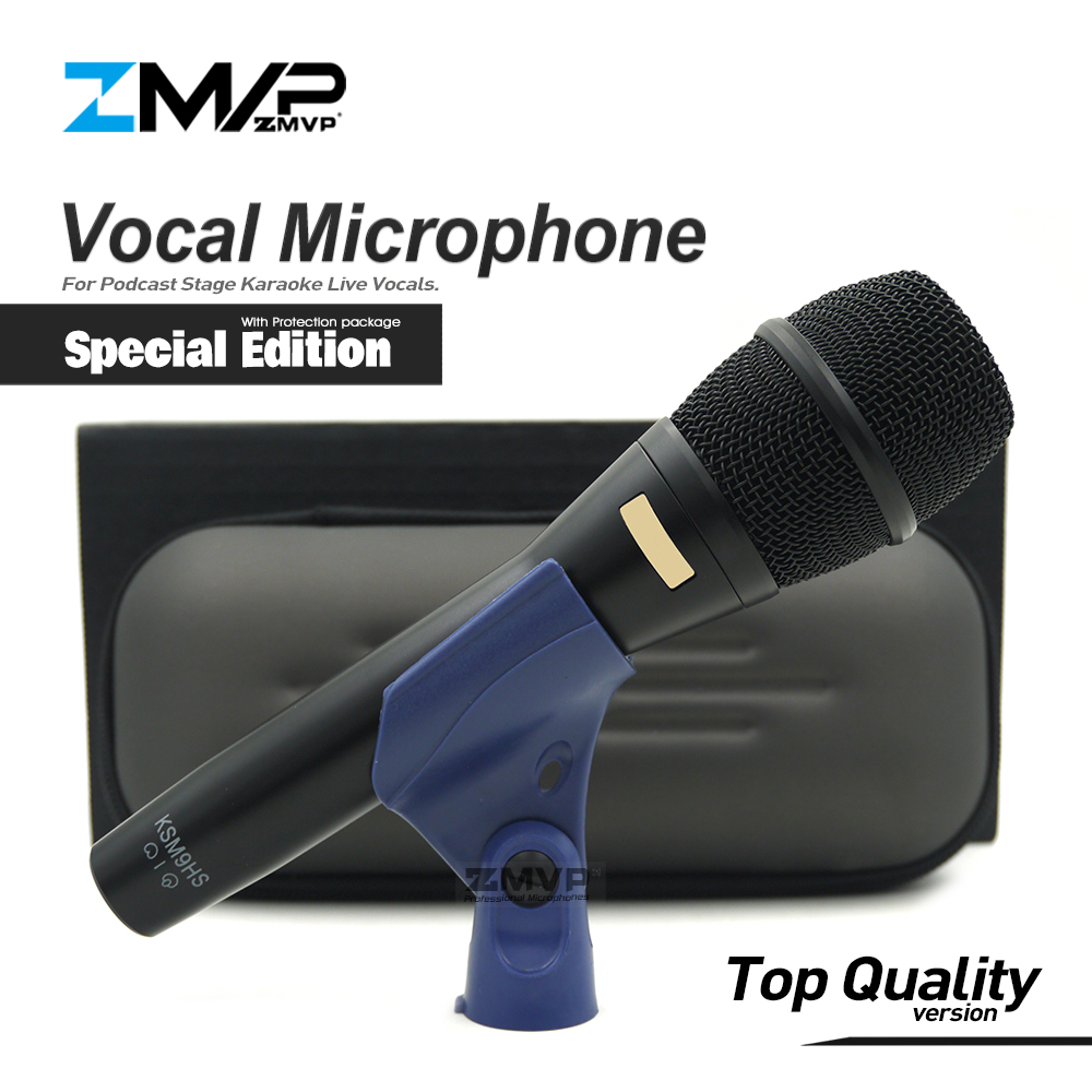 Top Quality Special Edition KSM9 Professional Live Vocals KSM9HS Dynamic Wired Microphone Karaoke Super-Cardioid Podcast Mic
