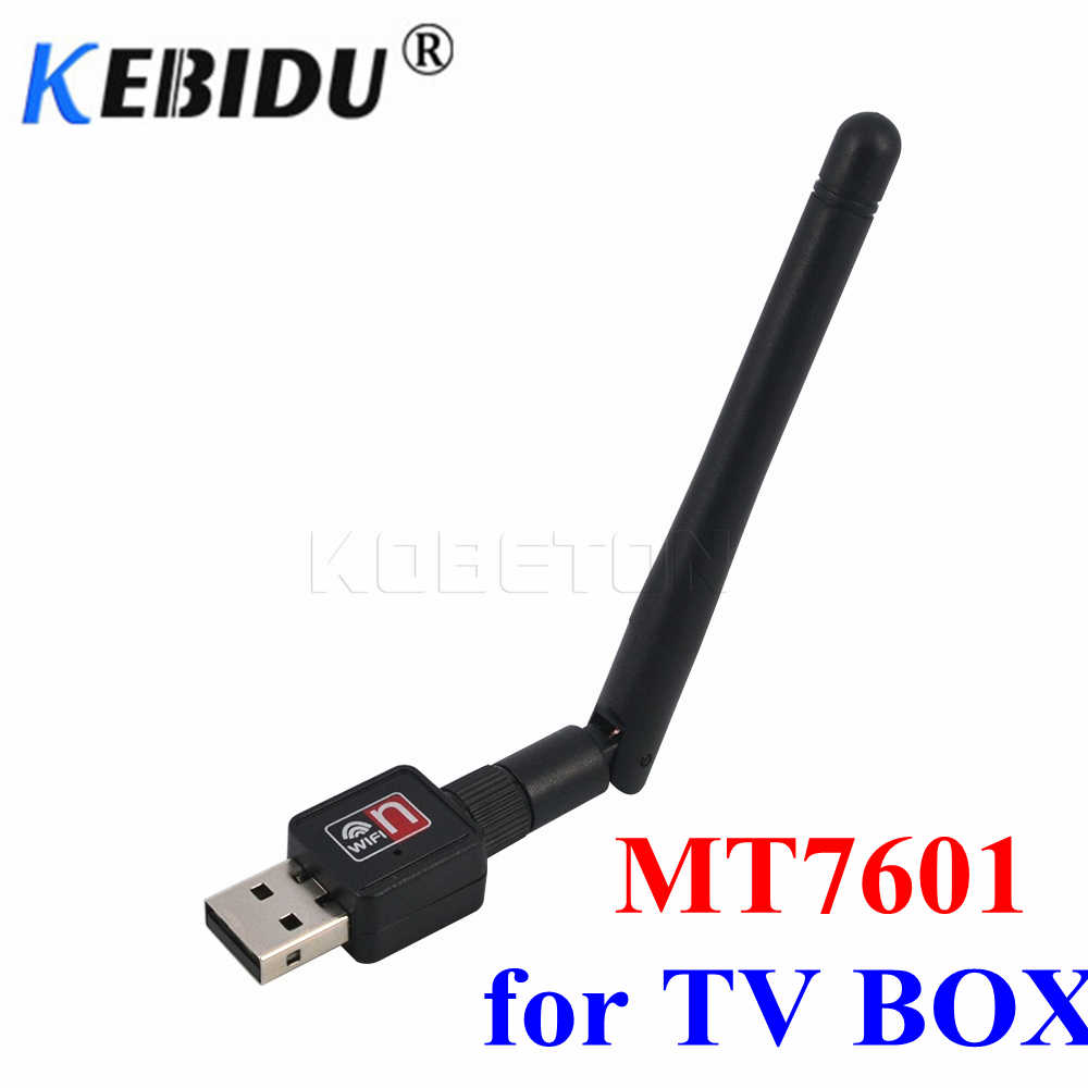 KEBIDU 150Mbps Mini USB WiFi LAN adaptador MT7601 WiFi adaptador inalámbrico 150M tarjeta LAN de red al por mayor