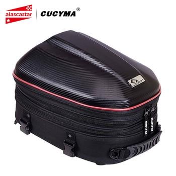 CUCYMA Motorcycle Bag Waterproof Motorcycle Tail Bag Tailbag Rear Pack Backseat Pack Backpack Crossbody Bag Kit Helmet Bag