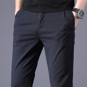2020 New Autumn Men's Business Slim Casual Pants Fashion Classic Style Elasticity Trousers Male Brand Gray Navy Blue Black