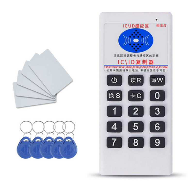 Handheld Frequency 125KHz RFID IC Card ID Tag Reader Writer Copier Duplicator With Writable Key Fobs/Tagsve Outdoor Tools     - title=