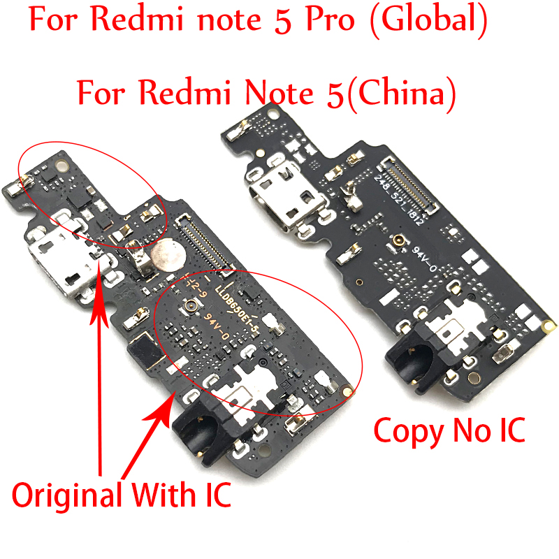 USB Charge Port Jack Dock Connector Charging Board Flex Cable For Xiaomi Redmi Note 5 Pro Parts