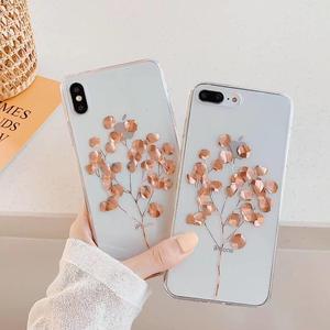 Image 4 - Luxury GlitterสำหรับiPhone 12 Mini 8 7 Plus X XS Max XR 11 Pro Max Gold Leafล้างฝาครอบด้านหลังนุ่มFundas Coque