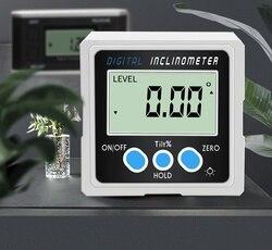 Kąt pomiaru maszyna wysokiej precyzji wyświetlacz cyfrowy miernik kąta kąt linijka H1904083 w Przyrządy do pomiaru poziomu od Narzędzia na