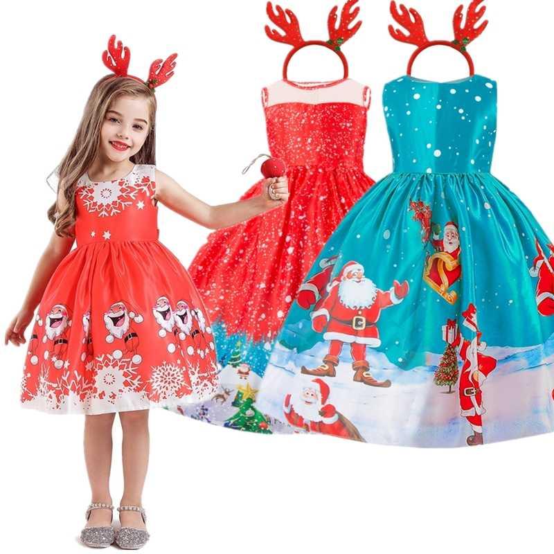 Nuevo Vestido De Navidad Para Niñas Santa Claus Traje De Regalo Niños Vestido De Noche De Navidad Niños Vestidos Para Niñas 4 10 Años Vestido De La
