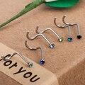 10 шт., мужские и женские серьги-гвоздики, 2 мм