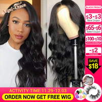 Angel Grace Brazilian Body Wave Lace Front Hair Wig 13X4/13x6 Remy Human Hair Wigs For Woman Pre Plucked Hairline With Baby Hair