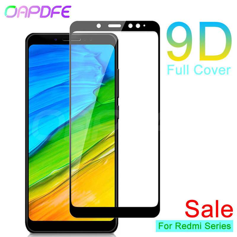 <font><b>9D</b></font> Protective Glass on the For <font><b>Xiaomi</b></font> <font><b>Redmi</b></font> 5 Plus <font><b>4X</b></font> 5A S2 Go K20 Screen Protector <font><b>Redmi</b></font> 4 Pro 4A Tempered Glass Film Case image