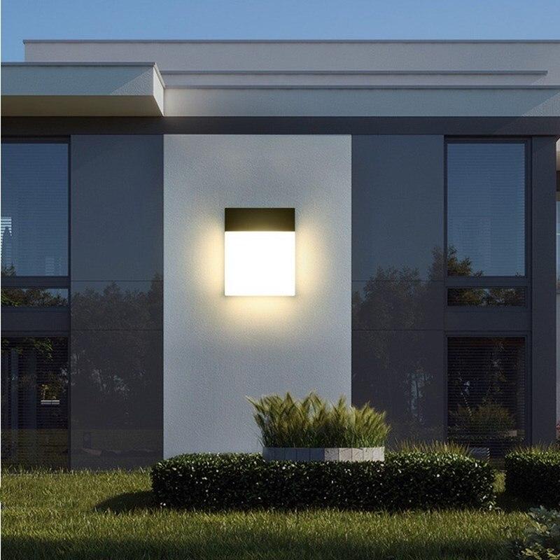 Luz de pared LED exterior de 12W Kenlux lámpara montada en superficie de nuevo diseño iluminación interior del porche de la sala de estar luz de pared decorativa de aluminio