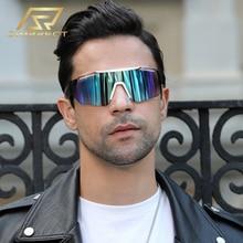 SIMPRECT 2020 Sport Sunglasses Men Oversized Goggle Windproof UV400 Colorful Mirror Lens Sun Glasses Fashion Brand Design Oculos